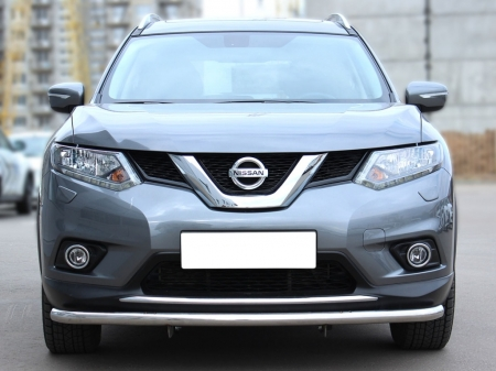 Nissan X-trail  2015-наст.вр.-Дуга передняя по низу бампера d-53 с подгибами
